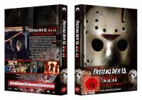 Freitag der 13. Teil 7 - Jason im Blutrausch (3 Disc Limited Mediabook, Blu-ray+DVD) (1988) [FSK 18] [Blu-ray]
