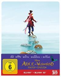 Alice im Wunderland: Hinter den Spiegeln (Limited Steelbook, 3D Blu-ray+Blu-ray) (2016) [3D Blu-ray]