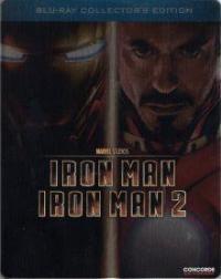 Iron Man 1+2 (Steelbook, 2 Discs) [Blu-ray]