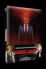 Scanners Trilogy (3-Disc Limited Mediabook, 2 Blu-ray's+CD) [FSK 18] [Blu-ray]