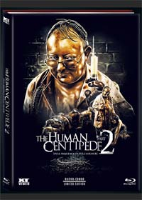 The Human Centipede 2 (Limited Collectors Mediabook, Blu-ray+DVD) (Color Version) (2011) [FSK 18] [Blu-ray]