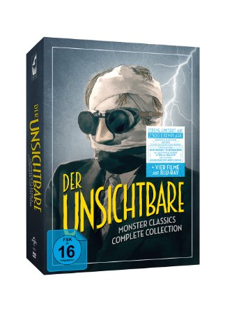 Der Unsichtbare - Monster Classics - Complete Collection (Limited Edition, 6 DVDs + 2 Blu-rays) [Blu-ray]