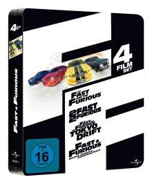 Fast and Furious 1-4 (Limited Jumbo Steelbook, 4 DVDs)