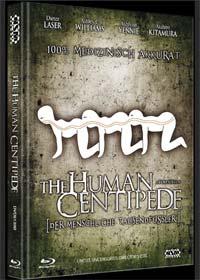 Human Centipede - Der menschliche Tausendfüßler (3 Disc Limited Mediabook, Blu-ray+2 DVDs, Uncut, Cover B) (2009) [FSK 18] [Blu-ray]