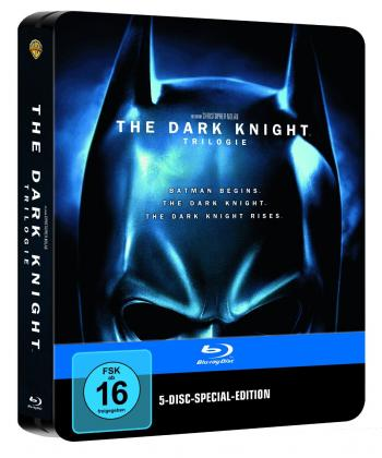 The Dark Knight Trilogy (5 Discs) (Digipack im Metalcase) [Blu-ray]