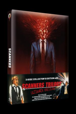 Scanners Trilogy (3-Disc Limited Mediabook, 2 Blu-ray's+CD) [FSK 18] [Blu-ray]