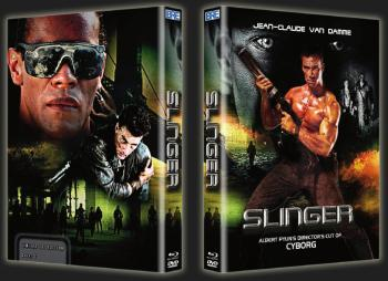 Slinger - Albert Pyun's Director's cut of Cyborg (Limited Mediabook,Blu-ray+2 DVDs, Cover C) (1989) [Blu-ray]