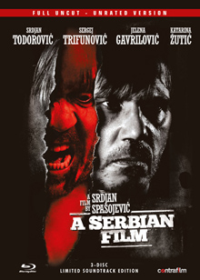 A Serbian Film (Full Uncut, 3 Disc Mediabook, Blu-ray+DVD+Soundtrack) (2010) [FSK 18] [Blu-ray]