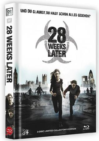 28 Weeks Later (Limited Mediabook, Blu-ray+DVD, Cover B) (2007) [FSK 18] [Blu-ray]