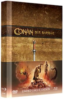 Conan der Barbar (Limited Wattiertes Mediabook, Blu-ray+DVD, Cover W) (1982) [Blu-ray]