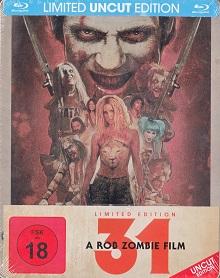 31 - A Rob Zombie Film (Uncut, Limited Steelbook) (2016) [FSK 18] [Blu-ray]