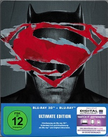 Batman v Superman: Dawn of Justice (Ultimate Edition, 2 Disc Steelbook, 3D Blu-ray+Blu-ray) (2016) [3D Blu-ray]