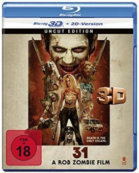 31 - A Rob Zombie Film (Uncut) (2016) [FSK 18] [3D Blu-ray]