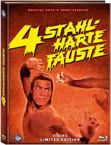 4 Stahlharte Fäuste (Limited Uncut Mediabook, Blu-ray+DVD) (1977) [FSK 18] [Blu-ray]