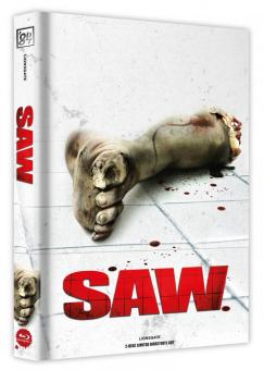 Saw (Limited Wattiertes Mediabook, Blu-ray+DVD, Cover A) (2004) [FSK 18] [Blu-ray]