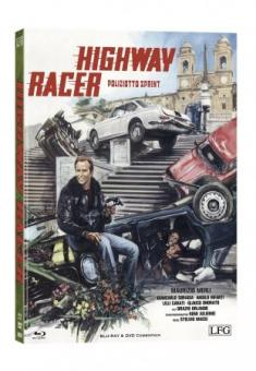 Poliziotto Sprint - Highway Racer (Limited Mediabook, Blu-ray+DVD, Cover A) (1977) [FSK 18] [Blu-ray]