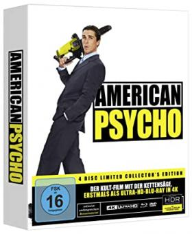 American Psycho (Limited Mediabook, 4K Ultra HD+Blu-ray+DVD+CD) (2000) [4K Ultra HD]
