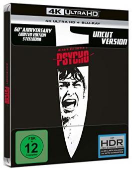 Psycho (Limited Steelbook, 4K Ultra HD+Blu-ray) (1960) [4K Ultra HD]