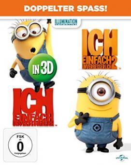 Ich einfach Unverbesserlich 1+2 (4 Discs, 3D Blu-ray+Blu-ray) [3D Blu-ray]