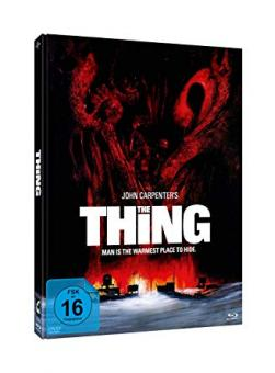 The Thing - Das Ding aus einer anderen Welt (Limited Mediabook, Blu-ray+2 DVDs, Cover Edwards) (1981) [Blu-ray]