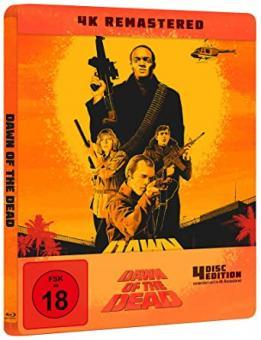 Dawn Of The Dead (Limited Steelbook, 4K Ultra HD+3 Blu-ray's) (1978) [FSK 18] [4K Ultra HD]