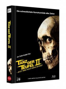 Tanz der Teufel 2 (3 Disc Limited Mediabook, 4K Ultra HD+Blu-ray, Cover B) (1987) [4K Ultra HD]