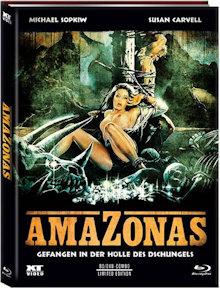 Amazonas - Gefangen in der Hölle des Dschungels (Limited Mediabook, Blu-ray+DVD, Cover B) (1985) [FSK 18] [Blu-ray]