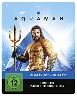 Aquaman (Limited Steelbook, 3D Blu-ray+Blu-ray) (2018) [3D Blu-ray]
