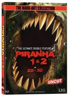 Piranha 1 + 2 (Limited Mediabook Edition, 2D + 3D Blu-ray, Cover D) (2010) [FSK 18] [3D Blu-ray]