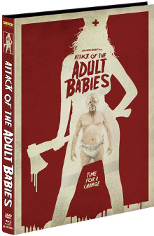 Attack of the Adult Babies (Limited Mediabook, Blu-ray+DVD, Cover A) (2017) [FSK 18] [Blu-ray]
