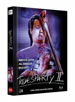 Die Todesparty 2 (Cutting Class) (Limited Mediabook, Blu-ray+DVD, Cover A) (1989) [FSK 18] [Blu-ray]