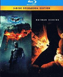 Batman - The Dark Knight/Batman Begins - Steelbook (3 Discs) [Blu-ray]