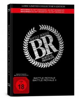Battle Royale 1+2 (4 Disc Limited Mediabook) [FSK 18] [Blu-ray]