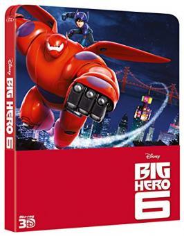Baymax - Riesiges Robowabohu (Big Hero 6) (Limited Steelbook, 3D Blu-ray+Blu-ray) (2014) [EU Import mit dt. Ton] [3D Blu-ray]