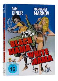 Frauen in Ketten (Black Mama, White Mama) (Limited Mediabook, Blu-ray+DVD, Cover A) (1973) [Blu-ray]