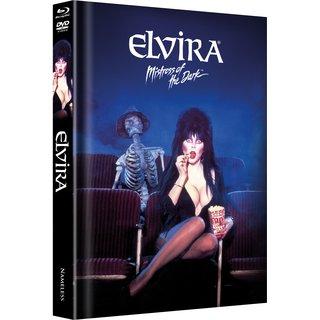 Elvira - Herrscherin der Dunkelheit (Limited Mediabook, Blu-ray+DVD, Black Cover) (1988) [Blu-ray]