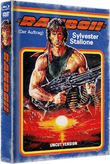 Rambo 2 - Der Auftrag (Limited Mediabook, Blu-ray+DVD, Cover A) (1985) [FSK 18] [Blu-ray]