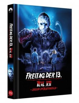 Freitag der 13. Teil 7 - Jason im Blutrausch (Limited Mediabook, Cover D) (1988) [FSK 18] [Blu-ray]