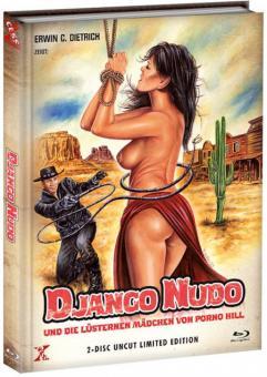 Django Nudo und die lüsternen Mädchen von Porno Hill (Limited Mediabook, Blu-ray+DVD, Cover A) (1968) [FSK 18] [Blu-ray]