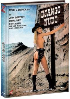 Django Nudo und die lüsternen Mädchen von Porno Hill (Limited Mediabook, Blu-ray+DVD, Cover D) (1968) [FSK 18] [Blu-ray]