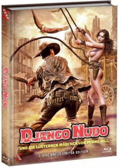 Django Nudo und die lüsternen Mädchen von Porno Hill (Limited Mediabook, Blu-ray+DVD, Cover B) (1968) [FSK 18] [Blu-ray]