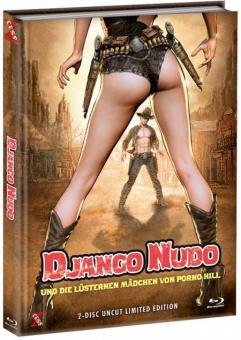 Django Nudo und die lüsternen Mädchen von Porno Hill (Limited Mediabook, Blu-ray+DVD, Cover C) (1968) [FSK 18] [Blu-ray]
