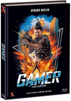 Gamer (Limited Mediabook, Blu-ray+DVD, Extended Version, Cover B) (2009) [FSK 18] [Blu-ray]