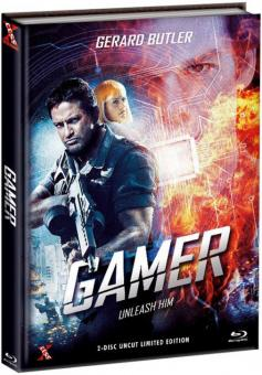 Gamer (Limited Mediabook, Blu-ray+DVD, Extended Version, Cover C) (2009) [FSK 18] [Blu-ray]