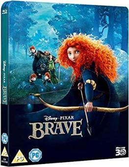 Merida - Legende der Highlands (Brave) (Limited Steelbook, 3D Blu-ray+Blu-ray) (2012) [UK Import] [3D Blu-ray]