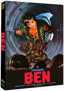 Ben - Aufstand der Ratten (Limited Mediabook, Cover B) (1972) [Blu-ray]