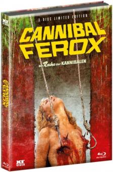Cannibal Ferox - Die Rache der Kannibalen (Limited Wattiertes Mediabook, Blu-ray+2 DVDs) (1981) [FSK 18] [Blu-ray]