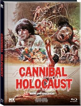 Cannibal Holocaust (Nackt und Zerfleischt) (3 Disc Limited Mediabook, Blu-ray+2 DVDs, Cover C) (1980) [FSK 18] [Blu-ray]