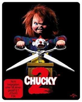 Chucky 2 - Die Mörderpuppe ist zurück (Steelbook, Uncut) (1990) [FSK 18] [Blu-ray]