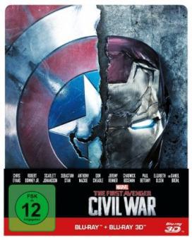 The First Avenger: Civil War (3D Blu-ray+Blu-ray, Limited Steelbook) (2016) [3D Blu-ray]